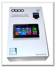 """Double Power WiFi 7"""" Windows 8.1 Tablet Black Bluetooth Keyboard Case DPW7A-BT"""