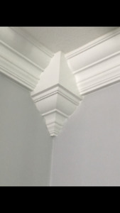 """Crown Molding Corners 10pc set  5 insides/4mids/1 outside for 4 5/8"""" vaulted C"""