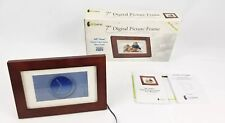 "LCD 7"" Picture Frame Digital Image GiiNii  Model GP-7AWP-1 Wooden Frame"