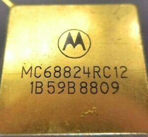 Motorola MC68824RC12 GOLD Plated legs & cap Date Code: 1B59B8809