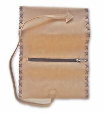 Cigarette Pouch Tobacco Roll up Paper Filter Smoke Brown Leather Case & String
