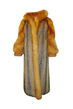 Beautiful red fox & cross fox fur coat