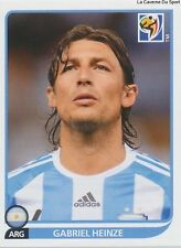 N°110 GABRIEL HEINZE # ARGENTINA STICKER PANINI WORLD CUP SOUTH AFRICA 2010