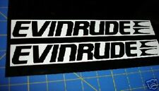 EVINRUDE Outboards Fishing Boats Sticker Black Race Boat Decal