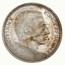 Raw 1912 Denmark 2 Kroner Uncertified Ungraded Silver Coin
