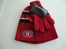 MONTREAL CANADIENS NHL Red Men Boy Hat Tuque and Gloves Set - NEW
