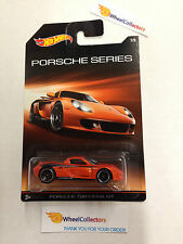 Porsche Series * Porsche Carrera GT #7 * Orange * 2015 Hot Wheels * Walmart * E7