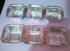 """100 Silver Aluminium Foil Tart Pan 3"""" Disposable Tin Heat Serve Bowl 1.5"""" deep"""