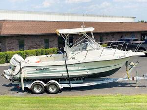 1998 Hydra-Sports 2450 Walk-Around Cuddy Cabin Center Console Fishing Power Boat