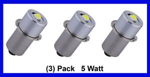 LED 18V Bulb (3 pack) 5W Dewalt Craftsman Ryobi Makita Hitachi Milwaukee P13.5S