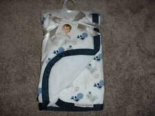 Blankets & Beyond Bird Blanket Navy White Infant NWT NEW Boutique Baby Girls