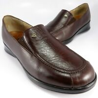 Finn Comfort Loafers Womens Size 7M (UK 5) Dark-Brown Leather Slip-Ons Moccasins