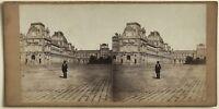 Nouveau Louvre Parigi Foto Stereo Vintage Albumina c1860