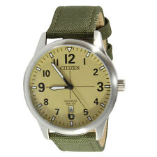 Citizen BI1050-05X Beige Green Nylon Strap Men's Quartz Watch