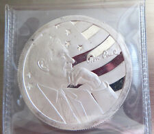 """RON PAUL .999 FINE SILVER CAMPAIGN FOR LIBERTY 2009 1 TROY OZ  """"FIFTY"""" AOCS COIN"""