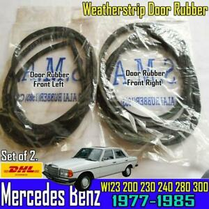For Mercedes Benz W123 Front Right Left  RH  LH Weatherstrip Door Rubber Set