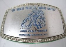 VTG Belt Buckle HIGH FALLS GORGE Silver tone ANCIENT VALLEY OF FOAMING WATERS