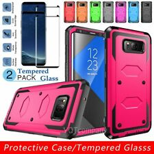 For Samsung Galaxy S8 S8 Plus Shockproof Hard Case Cover+Glass Screen Protector