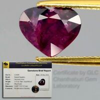Big Rare! Certified 3.13ct Natural Unheated Corundum Red Ruby & Blue Sapphire