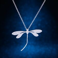 Real Genuine Womans  Ladies Dragonfly Pendant Necklace 925 Sterling Silver S/F
