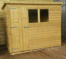 6ft x 4ft Tanalised Pent Shed