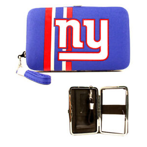 NFL NY New York Giants Team Logo Wristlet Wallet, Detachable Strap, Holds Phone