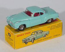 Francés Dinky 549 'Borgward Isabella TS cupé' . Mint Green. vnmint/Caja. década De 1960