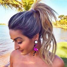 1Pair Lovely Animal Swan Flamingo Acrylic Ear Stud Earrings Night Club Jewelry
