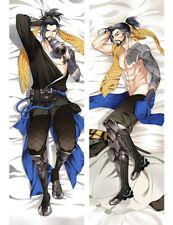 "Overwatch Hanzo OW Dakimakura Anime Body Pillow Cover Case 150x50 Hugging 59"""