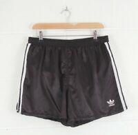 Vintage ADIDAS Black Inner Brief Nylon Shorts Size Men's Medium W32 L14