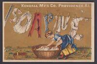Werbekarte - Victorian Trade Card SOAPINE the Dirt Killer Kendall Providence RI
