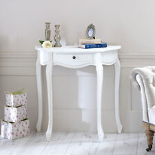 En bois blanc demi-lune table console Shabby Français Chic Country Living Room Hall