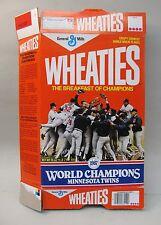 1987 MINNESOTA TWINS World Series Champs Wheaties Cereal Box baseball empty flat
