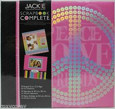 Tapestry CR Gibson 12x12 Jackie Pink Peace Scrapbook Complete 20 Designed Pages