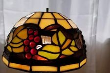 8 inch stained glass light fixture. Flush mount.