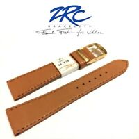 NEW 20mm ZRC ROCHET 5210714 HONEY TAN SOFT QUALITY CALF LEATHER WATCH BAND STRAP