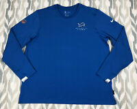 Nike Dri-Fit NFL On Field Apparel Detroit Lions Mens Pullover Sweater Size 2XL
