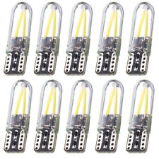 10x T10 194 168 W5W COB LED CANBUS Silica Glass License Light Bulbs Warm White