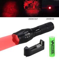 Zoom Focus Green/Red 250 yard Hunting Light Flashlight r Hog Pig Blood Torch