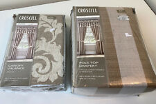 Croscill Anessa 2 Lined Curtain Drape Panels And One Valance NEW