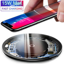 For iPhone SE 2 11 Pro XS Max X 8 15W Qi Wireless Charger Fast Charging Pad Mat