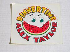 Alex Taylor-Dinnertime-Origina l 1972 Capricorn Promo Sticker-Unused!