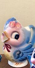 Vintage Geo Z Lefton Bluebird Creamer Cream Pitcher # 287 Anthropomorphic Signed
