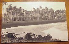 1910's Kalapana Black Sand Beach Puna District TH Hawaii RPPC