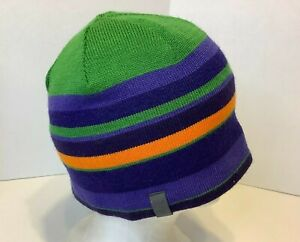 Arcteryx Molly and Moe Beanie Hat Multi Color Striped Blue Green Womens  34438