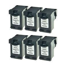 6PK Compatible with HP 63XL Black Ink for Deskjet 1110 1112 3630 3631 ENVY 4520