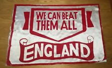 Bandiera scarf banner Flag football England Supporters Italy 1980 ultras  rare