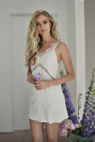 White Lace Satin Dress For Wild Lemons People Summer Love and Free fox
