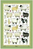 The Sheep Breeds Linen Union Tea Towel by Samuel Lamont
