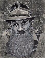Original Art Print - Popcorn Sutton, Moonshine, Outlaw, T.A. Schmitt, Artist